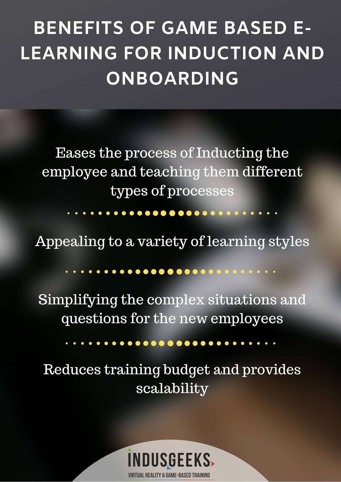Benefits of Game-based e-Learning for induction and on-boarding