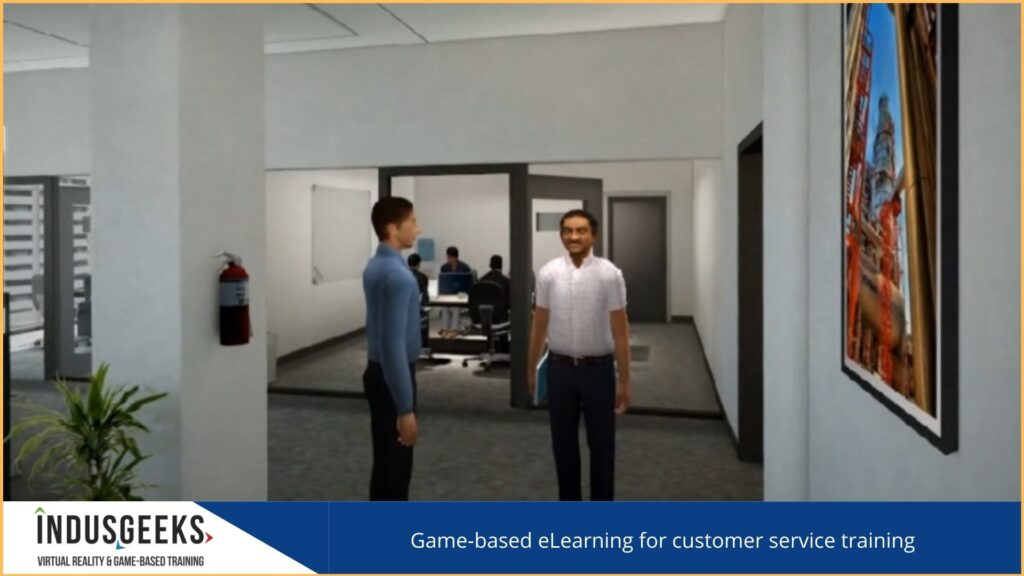 Game-based elearning for customer service training